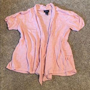 Rue21 Sweaters - Rue 21 Medium Pink Short Sleeve Shrug Top